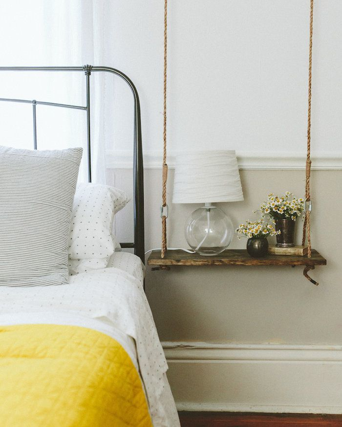 A swing bedside table--ingenious! - 250 Best Bedroom Images On Pinterest Bedroom, Bedroom Decor And