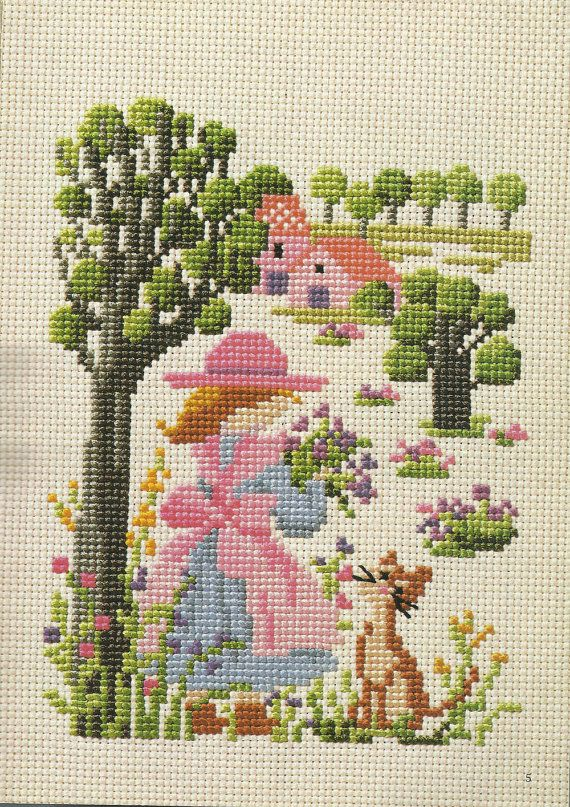 Japanese Cross Stitch Pattern e book Vintage por AdoredPixel