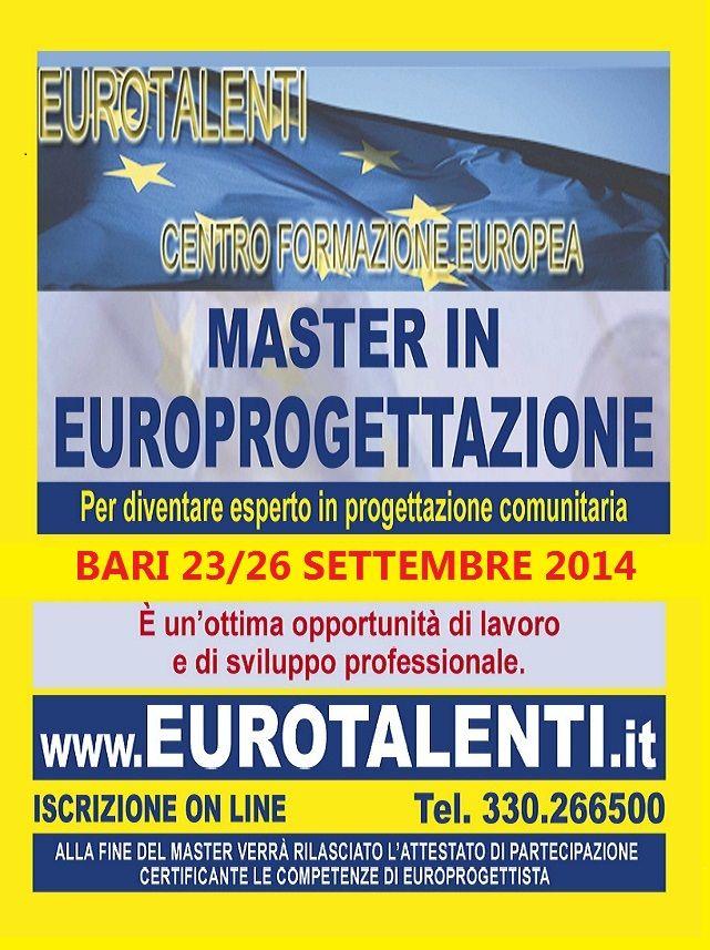 NUOVA OPPORTUNITA' DI #LAVORO – #STAGE e #TIROCINIO:  RIPARTI CON UNA #COMPETENZA INNOVATIVA  Diventa consulente #EUROPROGETTISTA: professione innovativa  #Master in #Europrogettazione  ti consente #lavoro, #indipendenza, #professionalità' e #guadagni immediati #tiocinio e #stage ISCRIVITI ON LINE: www.eurotalenti.it #FINANZIAMENTI Europei in #ITALIA e in #EUROPA