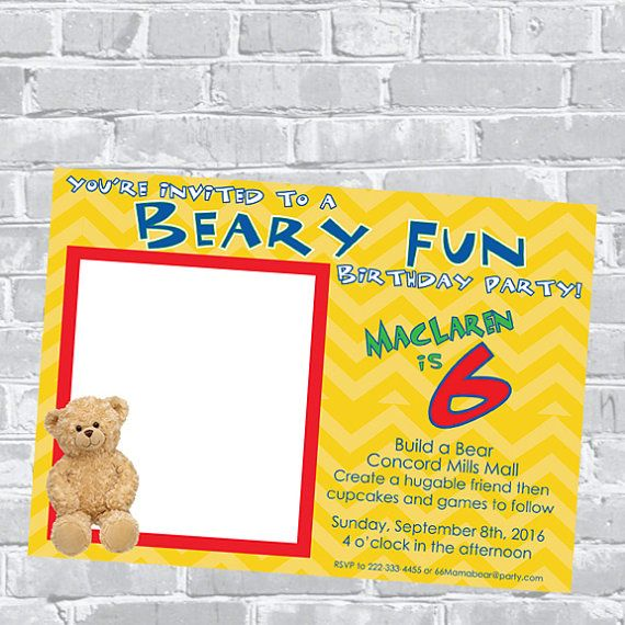 27 best Build A Bear Workshop Birthday Party images – Build a Bear Invitations Birthday