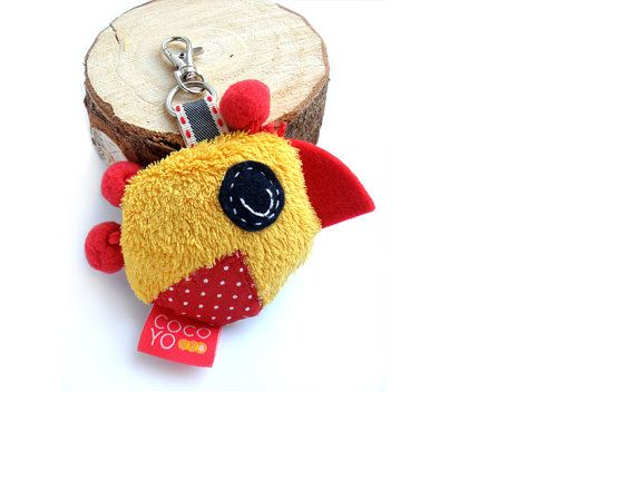 Yellow Chicken Animal Key Chain  Toy Key Chain Soft by COCOYOstore, €13.50