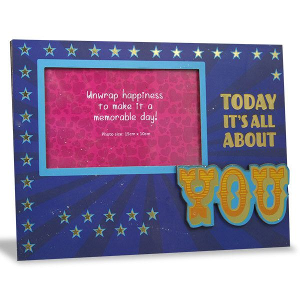 Today Is About You Photo Frame.  Today it's all about you… Shop Now : Rs. 474 : Height : 19 cm X Length : 25 cm X width : 1 cm. : https://hallmarkcards.co.in/collections/shop-all/products/frames-for-best-wishes