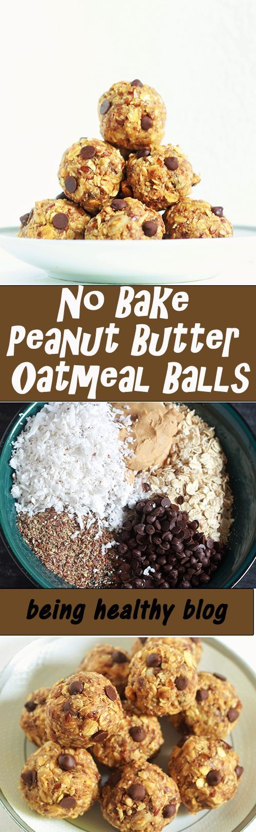 No Bake Peanut Butter Oatmeal Balls – Learn how to make Peanut Butter Oatmeal Balls without baking.