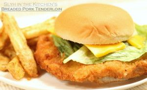 Hoosier style Bread Pork Tenderloin sandwich!