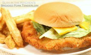 Hoosier style Bread Pork Tenderloin sandwich!