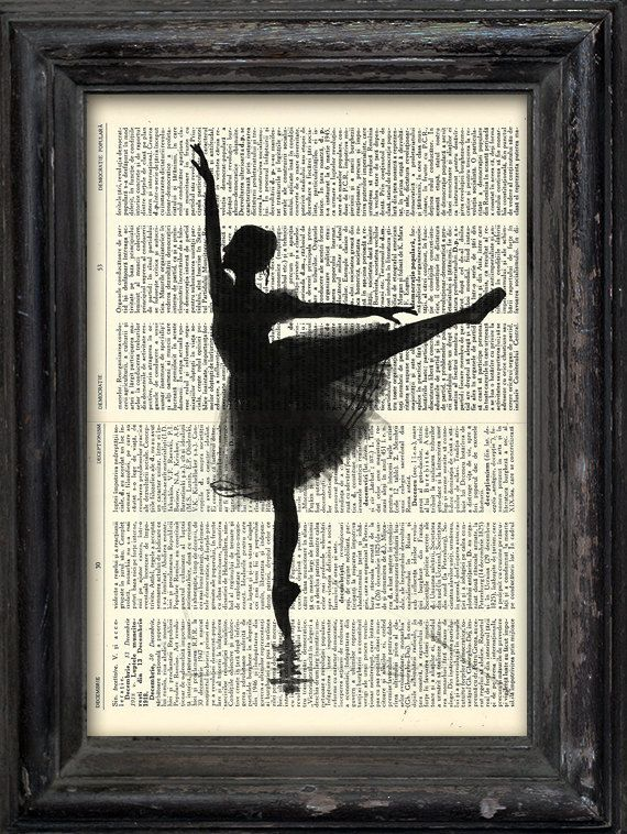 Print Art Ink canvas poster Drawing best gift Ballet Art by rcolo