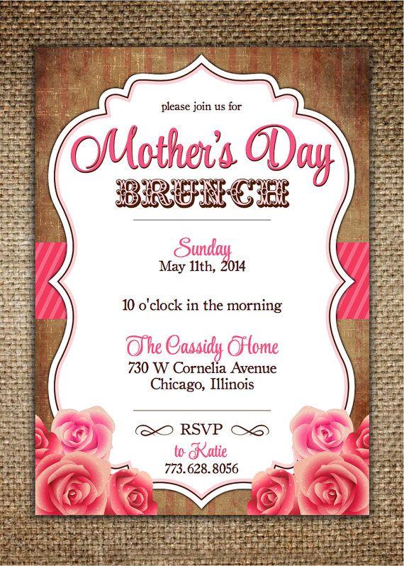Mother's Day/Birthday Invitation Vintage Design by ...