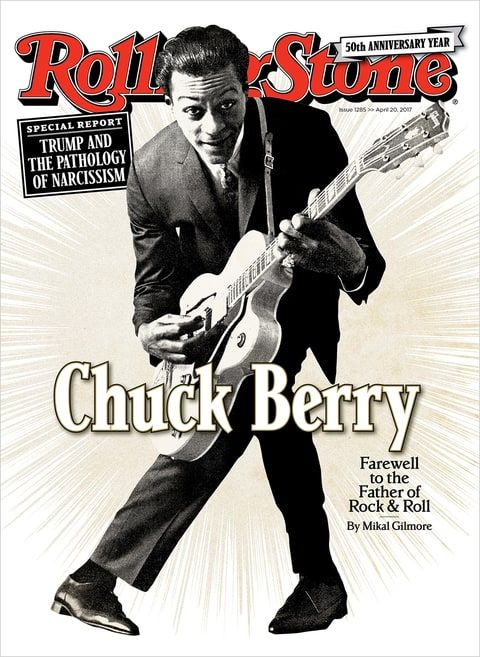 Chuck Berry on the April 20, 2017 cover.