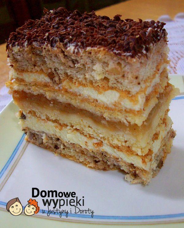 Ciasto Jabłkowo-Orzechowe z Czekolada | Domowe-Wypieki