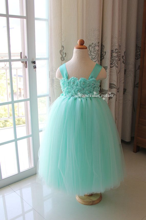 Hey, I found this really awesome Etsy listing at https://www.etsy.com/listing/212711974/mint-flower-girl-tutu-dress-mint-green
