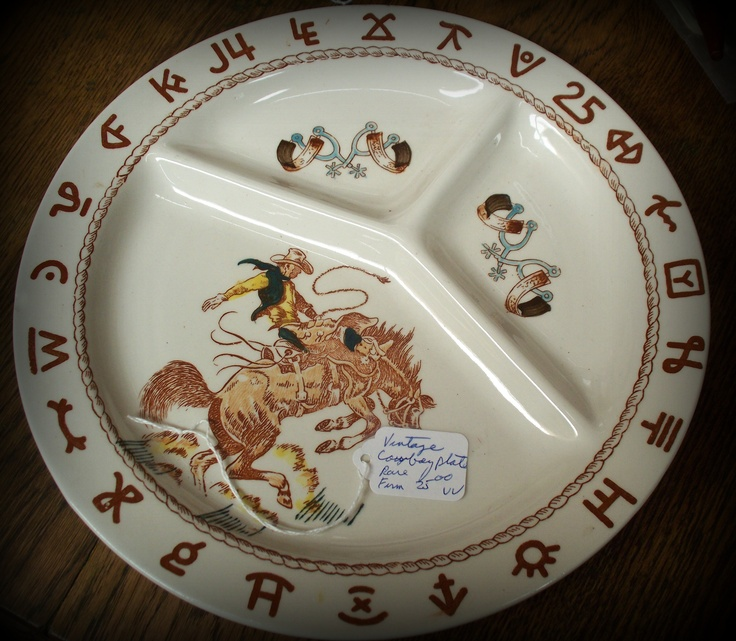 Vintage Cowboy Plate Buckeroo! & 148 best Kitchen Western Dishes images on Pinterest | Antique ...