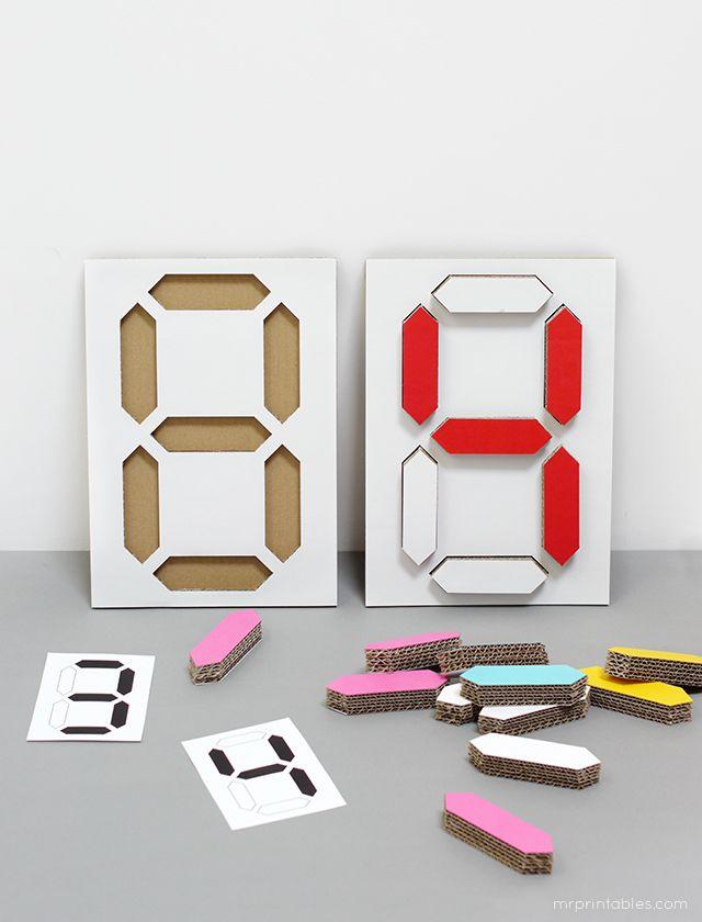 Digital Number Puzzle - Mr Printables