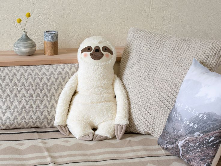 Hot water bottle cover Sloth white  Faulpelz Rustic