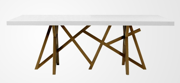 Christophe delcourt s saga dining table for roche bobois for Table extensible roche bobois