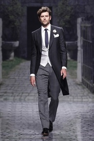 a stylish groom rocks a morning coat, #grooms