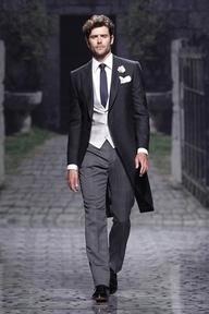 a stylish groom rocks a morning coat, #grooms