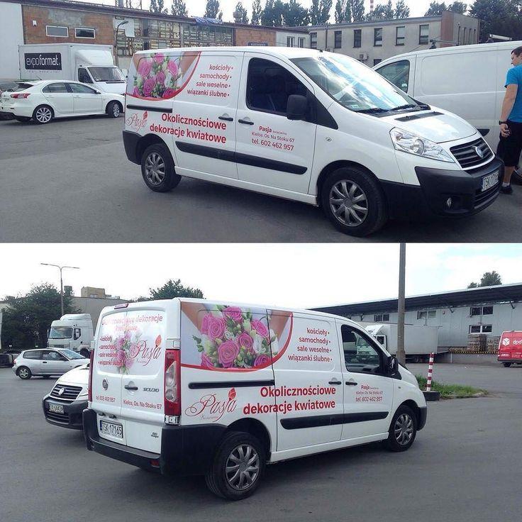 Projekt graficzny oklejania samochodu dla kwiaciarnii Pasja #projektgraficzny #graphicdesign #oklejaniepojazdow #vehiclewrapping #auto #car #kielce #mgraphics #buskozdroj #nadajemyksztaltypomyslom www.mgraphics.eu