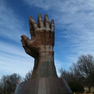 ORU praying hands - TulsaOklahoma