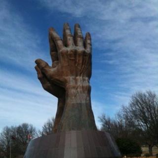 ORU praying hands - Tulsa: Oklahoma
