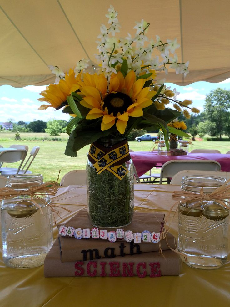 Easy diy graduation centerpieces for education majors