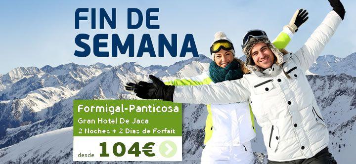 Descuento Viajes esqui fin de semana Formigal-Panticosa