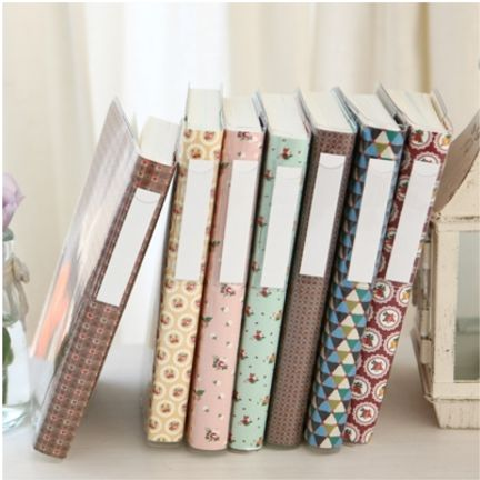 Make simple book covers to match your decor.