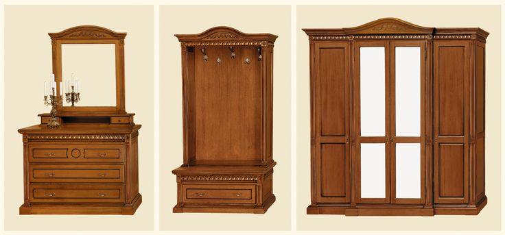 dulap, cuier , comoda - Mobila / Mobilier Dormitor clasic lemn masiv Vanda 2 | RON0.00 | #mobilena.ro