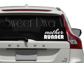 Mother Runner Decal Car Decal  Vinyl sticker Decal Car Window Sticker Runners Gift by SweetDivaMJ on Etsy