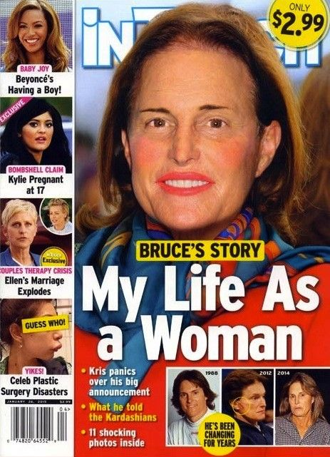 """Bruce Jenner: """"Life as a Woman"""". Not surprised. After living with imasculating, ball-breaking women for years this poor guy never had a chance. SAD."""