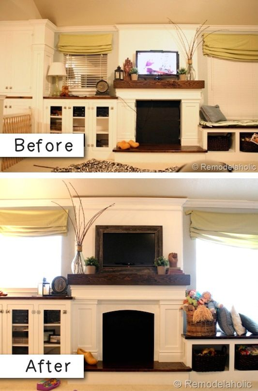 #8. Frame your TV! What a difference. -- 27 Easy Remodeling Projects That Will Completely Transform Your Home