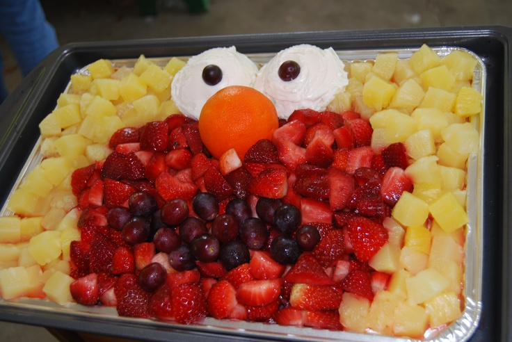 Elmo fruit tray-so clever!