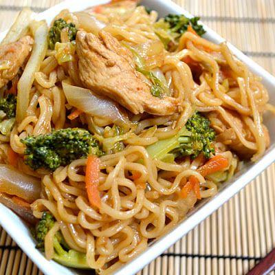Chicken+Yakisoba+Recipe+@keyingredient+#cheese+#chicken+#vegetables
