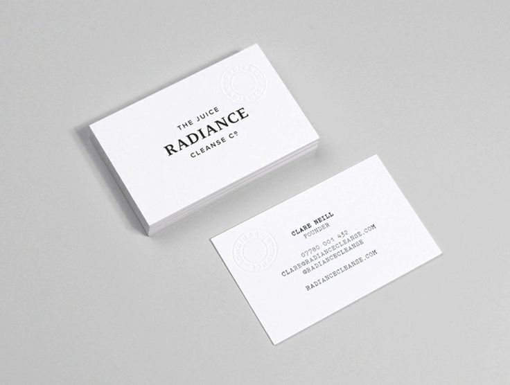 141 best design business card images on pinterest business card business cards with blind emboss detail for radiance cleanse juice designed by construct reheart
