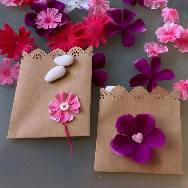 Alternativa per decorare i sacchetti. Qui proposto viola e sue gradazioni, scegli il tuo colore.....