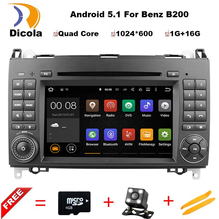 Quad Core Android 5.1 CAR DVD PLAYER for Mercedes B200 W169 A160 Viano Vito GPS NAVI RADIO BT1024*600 16G ROM Support DAB+ #Affiliate