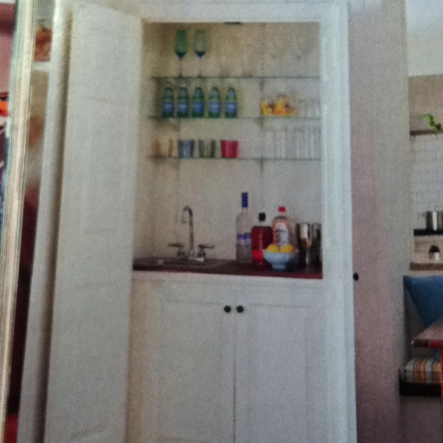 Turn A Living Room Closet Or Kitchen Storage Into Wet Bar