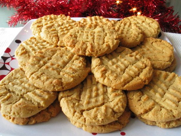 Peanut butter crunch cookies with frosted mini wheat cereal.