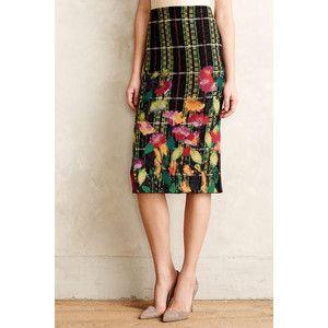 Troubador Blossom Checked Pencil Skirt