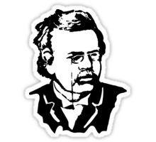 $2.73-$16.37 Sticker G. K. Chesterton, #Gilbert #Keith #Chesterton, #English #writer, #poet, #philosopher, dramatist, #journalist, orator, lay theologian, biographer, and literary and #art #critic