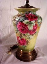 Vintage Limoges Lamp Hand Painted Roses