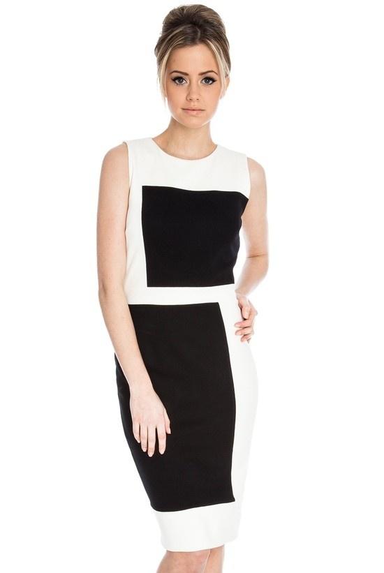 Black & white elegant dress