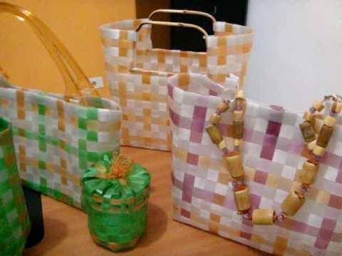 bolsas hechas con botellas de pet www.luxocompet.blogspot.com