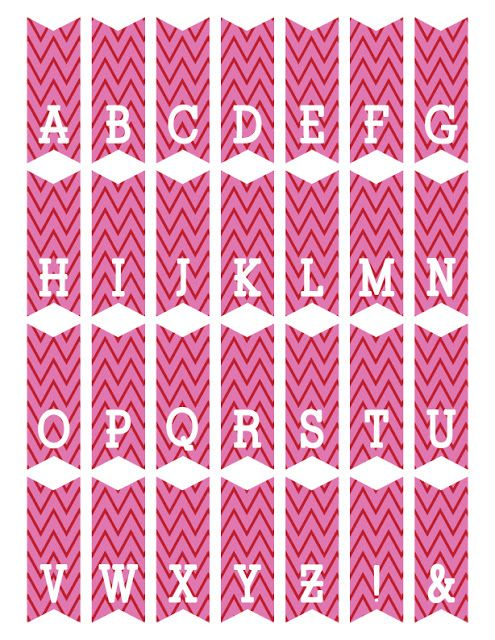 free printable mini alphabet bunting from ScrapNFonts