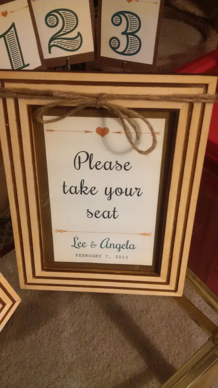 #Wood and #twine frame to accompany guest seating cards for #wedding dinner #diy