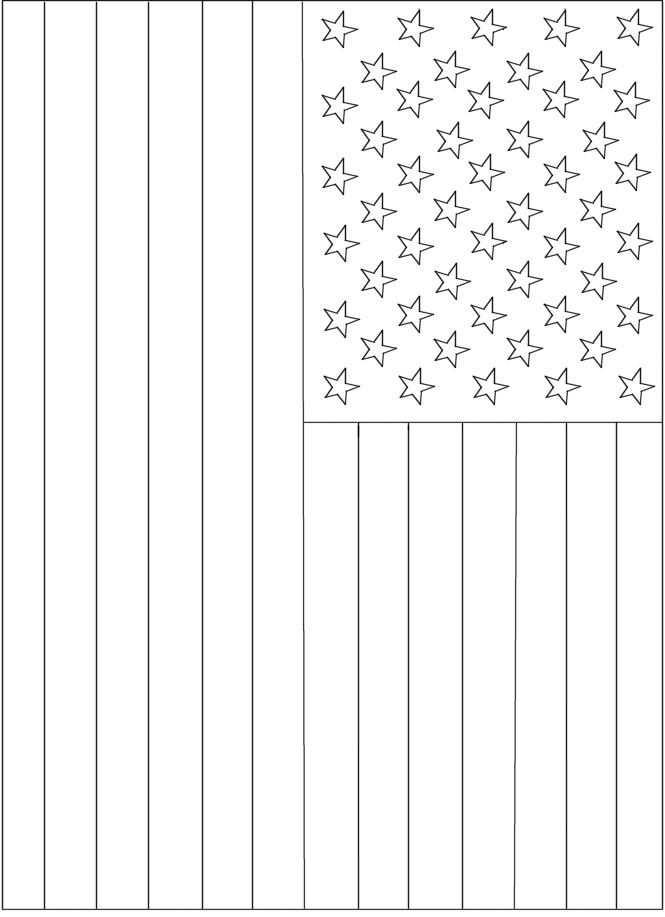 American Flag Coloring Page for Memorial Day