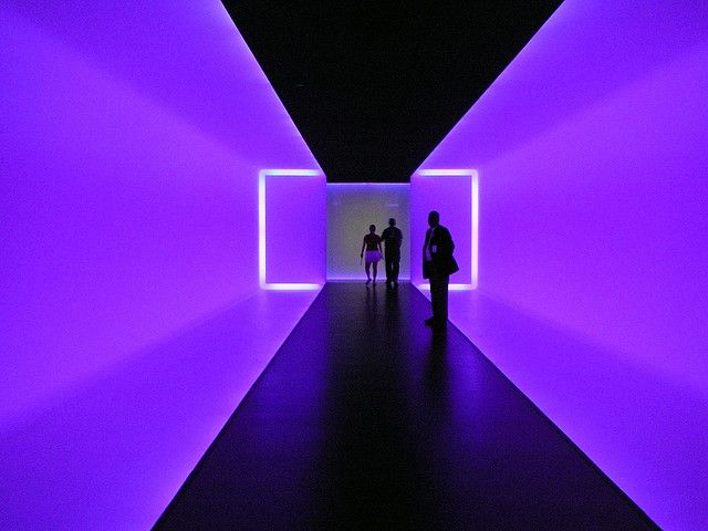 "James Turrell's ""Light Tunnel"" at the Museum of Fine Arts, Houston."