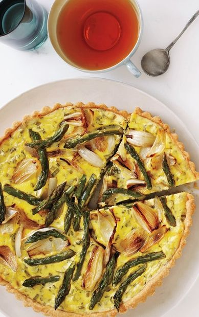 Savory Spring Vegetable and Goat Cheese Tart - Easter Brunch perhaps?