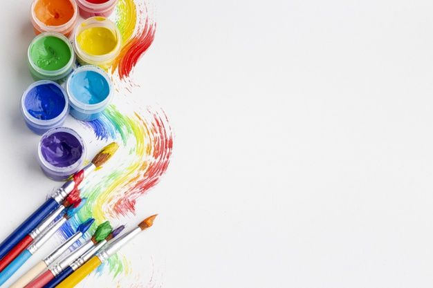Download Top View Of Colorful Aquarelle With Copy Space For Free