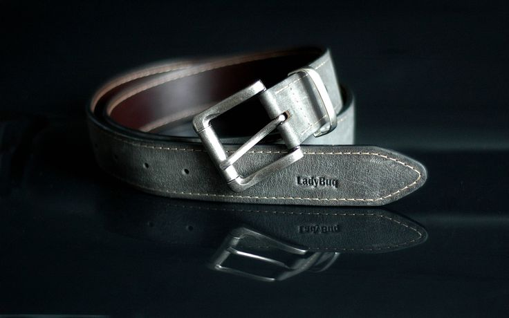 Leather Belt, Handmade, Belts, Gray by ladybuq on Etsy