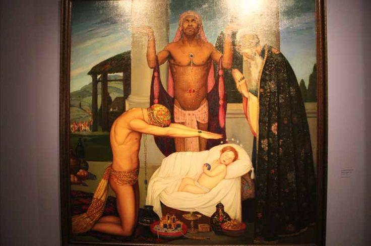 Ángel Zárraga - La adoración de los Reyes Magos